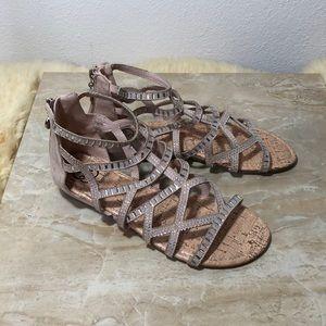 3808c687732 Daisy Fuentes Gladiator Sandals with rhinestones